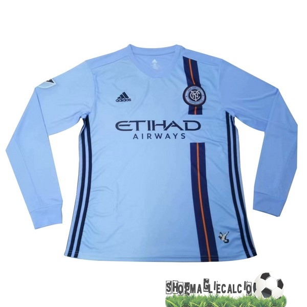 Completi Calcio Squadre Adidas Home Manica lunga New York City 2019 2020 Blu