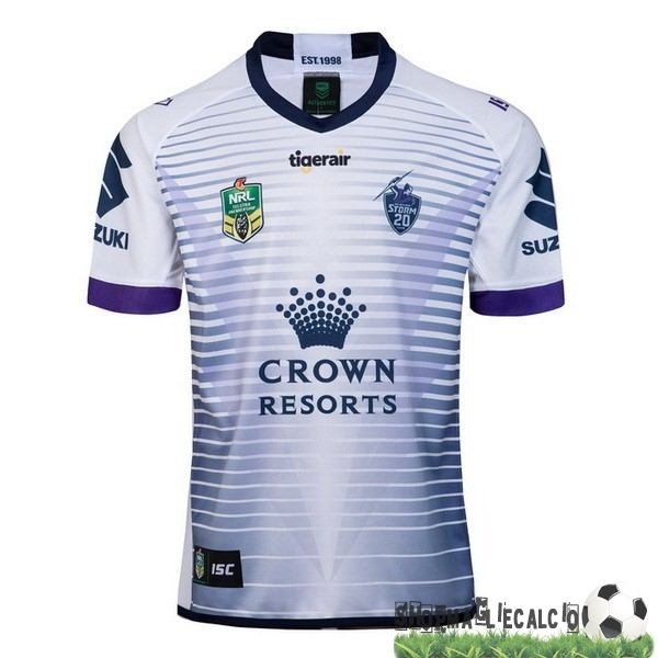 Completi Calcio Squadre ISC Away Rugby Maglia Melbourne Storm 2018 Bianco